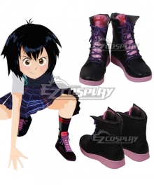 Marvel Spiderman Spider-Man: Into The Spider-Verse Peni Parker Black Cosplay Shoes