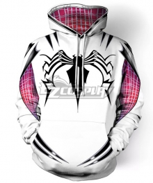Marvel Spiderman Spiderwoman Spider Gwen Gwen Stacy Coat Hoodie Cosplay Costume
