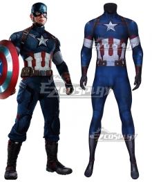 Marvel The Avengers 2 Captain America Zentai Jumpsuit Cosplay Costume