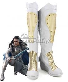 Marvel Thor 3 Ragnarok Trailer Valkyrie Silver Golden Shoes Cosplay Boots
