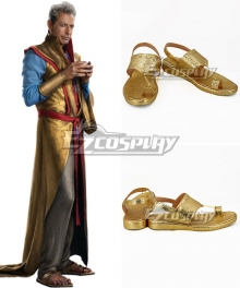 Marvel Thor: Ragnarok Grandmaster Golden Cosplay Shoes