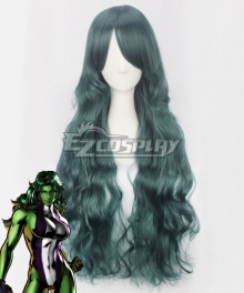 Marvel Savage She-Hulk She Hulk Jennifer Susan Walters Green Cosplay Wig