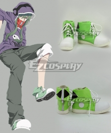 Mekakucity Actors Kagerou Project KIDO TSUBOMI Purple Green Cosplay Shoes
