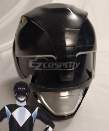 Mighty Morphin Power Rangers Black Ranger Helmet Cosplay Accessory Prop
