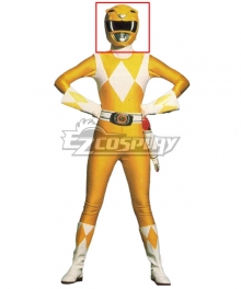 Mighty Morphin Power Rangers Yellow Ranger Helmet Cosplay Accessory Prop