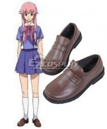 Mirai Nikki Future Diary Gasai Yuno Brown Cosplay Shoes