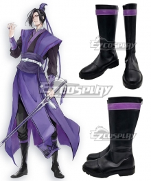The Grandmaster Of Demonic Cultivation Mo Dao Zu Shi Jiang Cheng Black Shoes Cosplay Boots