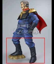 Mobile Suit Gundam Ramba Ral Black Cosplay Boots