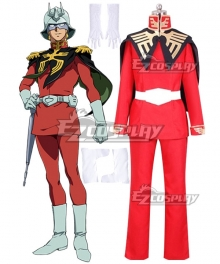 Mobile Suit Gundam: The Origin Char Aznable Cosplay Costume