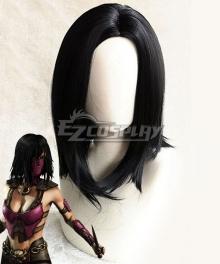 Mortal Kombat 11 Mileena Black Cosplay Wig