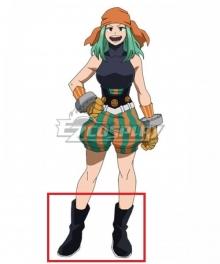 My Hero Academia Boku No Hero Academia Emi Fukukado Smile Hero Ms. Joke Black Shoes Cosplay Boots