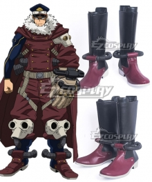 My Hero Academia Boku no Hero Academia Inasa Yoarashi Black Red Shoes Cosplay Boots