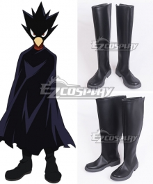 My Hero Academia Boku No Hero Akademia Fumikage Tokoyami Black Shoes Cosplay Boots