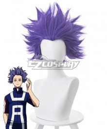 My Hero Academia Boku No Hero Akademia Hitoshi Shinsou Matt Blue Purple Cosplay Wig - 445K