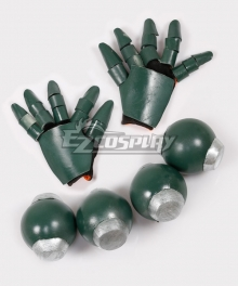 My Hero Academia Boku No Hero Akademia Katsuki Bakugou Gloves and Attachable Belt Grenade Props Cosplay Accessory Prop