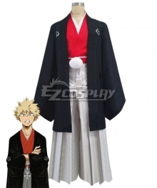 My Hero Academia Boku No Hero Akademia Katsuki Bakugou Happy New Year Kimono Cosplay Costume