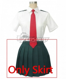 My Hero Academia Boku No Hero Akademia Ochako Uraraka Kyoka Jiro Tsuyu Asui Summer School Uniform Cosplay Costume - Only Skirt