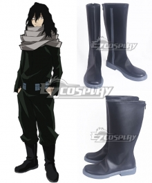 My Hero Academia Boku no Hero Akademia Shota Aizawa Black Shoes Cosplay Boots