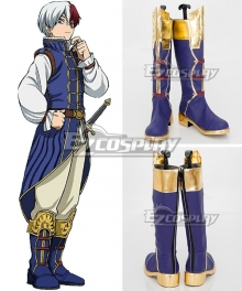 My Hero Academia Boku no Hero Akademia Shoto Todoroki ED Blue Shoes Cosplay Boots