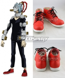 My Hero Academia Boku No Hero Akademia Tomura Shigaraki Red Cosplay Shoes