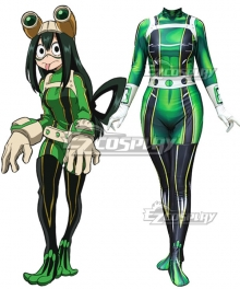 My Hero Academia Boku No Hero Akademia Tsuyu Asui Battle Suit Spandex Jumpsuit Cosplay Costume