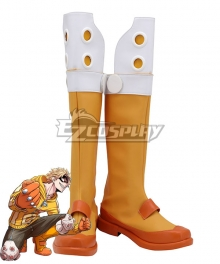 My Hero Academia Boku No Hero Akademia Fat Gum Taishiro Toyomitsu Orange Shoes Cosplay Boots