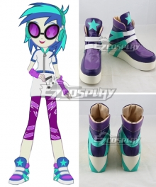 My Little Pony Equestria Girls DJ PON3 Purple Shoes Cosplay Shoes