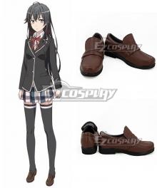 My Youth Romantic Comedy Is Wrong As I Expected Yahari Ore no Seishun Love Comedy wa Machigatteiru Yukino Yukinoshita Brown Cosplay Shoes