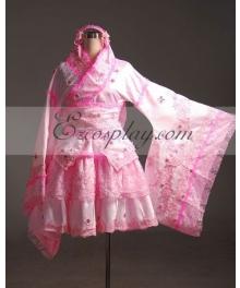 Vocaloid Miku Pink Kimono Cosplay Costume-Advanced Custom