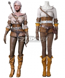 The Witcher 3 Wild Hunt Cirilla Cosplay Costume - Including Boots