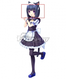 Nekopara Shigure Minaduki Black Purple Cosplay Wig