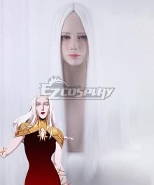 Netflix Castlevania Carmilla White Cosplay Wig