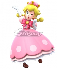 New Super Mario Bros. U Deluxe Peachette Princess Peach Cosplay Costume