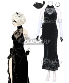 NieR: Automata 2B YoRHa No. 2 Type B Evening Dress Cosplay Costume