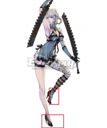 NieR Replicant ver.1.22474487139… Kaine Black Cosplay Shoes