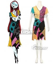 Nightmare Before Christmas Sally Halloween Dress Cosplay Costume