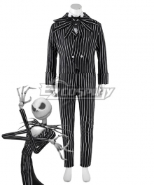 Nightmare Before Christmas cosplay Jack Skellington Stripe Uniform Costume Halloween Costume
