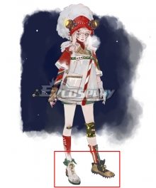 Nostos Alniyat Midwinter Festival Skin White & Brown Cosplay Shoes