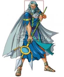 Olympus Guardian Poseidon Blue Cosplay Wig