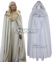 Once Upon A Time Emma White Dress Cosplay Costume