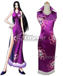 One Piece Boa Hancock Cheongsam Cosplay Costume