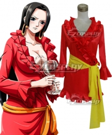 One Piece Boa Hancock Red Pajamas Cosplay Costume
