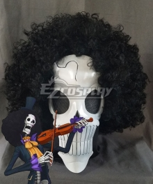 One Piece Brook Burukku Mask Cosplay Accessory Prop - Only Mask