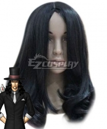 One Piece CP0 Rob Lucci Black Cosplay Wig