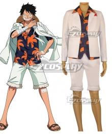One Piece Film: Gold Monkey D Luffy Cosplay Costume