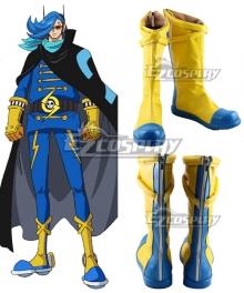 One Piece Germa 66 Vinsmoke Niji Yellow Shoes Cosplay Boots