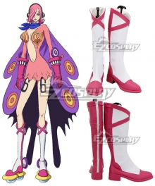One Piece  Germa 66  Vinsmoke Reiju White Shoes Cosplay Boots