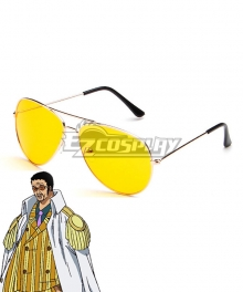 One Piece Kizaru Borsalino Glasses Cosplay Accessory Prop