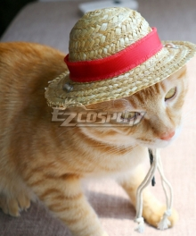 One Piece Monkey D Luffy Pets Photo Prop Pet Cosplay Costume