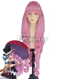 One Piece Perona Ghost Princess After 2Y Pink Cosplay Wig